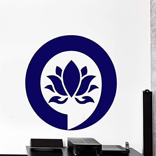 yuandp Verwijderbare DIY Muurstickers muur vinyl sticker lotusbloem Enso Enzo Meditation Decor 56X56 cm