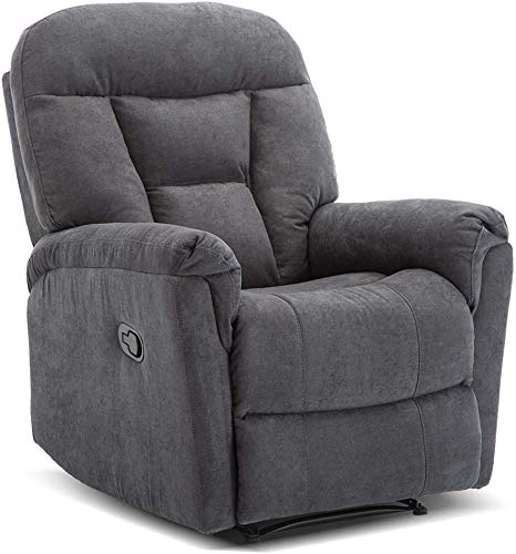 Microfiber Recliner Chair, Reclining Sofa Couch, Home Theater Seating...