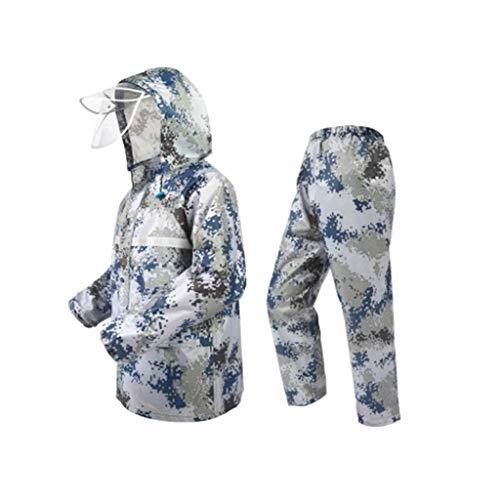 JJZXPJ Waterdichte camouflage regenjas outdoor camouflage vizier drie-in-één multifunctionele regenjas Camouflage Dubbele Poncho Man En Vrouwelijke Buiten (Kleur : Groen, Maat : XXXXL)
