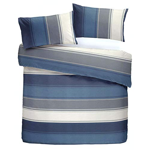 Fusion Duvet Cover Set, Polyester-Cotton, Blue, Single