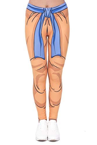 NIEWEI-YI Damen bunt Sport Strumpfhose Leggings mit muster Fitness Yoga Joggen Pants Hose Stretchy Dragon Ball,M
