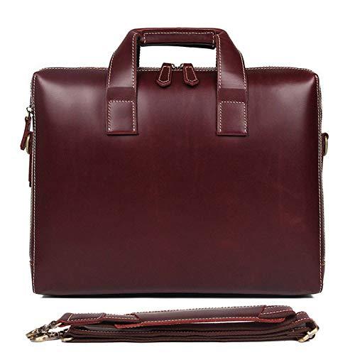 WFBD-CN Wallet Men Men's Briefcase Simple Fashion Business Briefcase 15' Computer Bag Leather Men's Handbag wallet Money Clip (Color : Brown, Size : L)