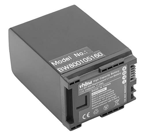 vhbw batería 2400mAh (7.2V) con Infochip para cámara Canon XA10, XA20, XA25, HF G30 por BP-819, BP-820, BP-827, BP-828.