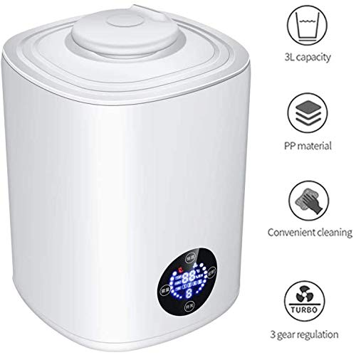 CNTJMJY humidificación de aire humidificador Filtro ultrasónico Hogar Oficina purificador de aire, Blanco, 22.5 cm * 22.5 cm * 29.5 cm