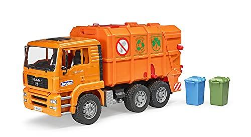 bruder- Man TGA Camion Rifiuti, Multicolore, Taglia Unica, 02760