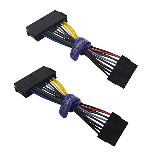 (2-Pack) COMeap 24 Pin to 14 Pin ATX PSU Main Power Adapter Cable for IBM Lenovo PCs and Servers 5.5-inch(14cm) (Short Type)