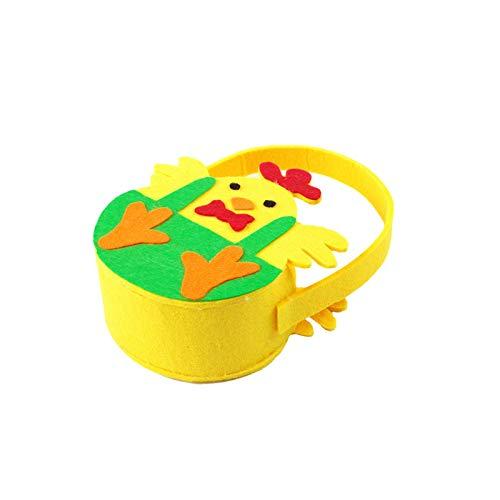 Xuanshengjia Bolsa de regalo de Pascua, no tejida linda decoración de pollitos bolsa de dulces, bolsas de merienda de galletas de Pascua, cesta de Pascua, mini bolsas lindas para regalos de fiesta