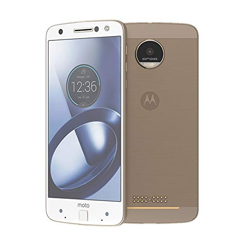 Moto Z Unlocked Smartphone, 5.5in Quad HD screen, 64GB storage, 5.2mm thin - Fine Gold White - 64GB (International model) (Renewed)