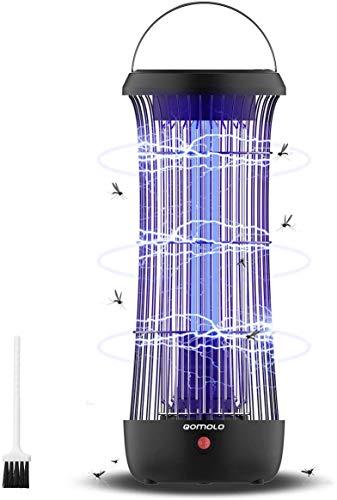 Qomolo Lámpara Anti Mosquitos Electrico, Mata Mosquitos Killer, 12W UV Luz Lampara Segura y Eficaz Repelente Zapper Mosquitos Polillas,Trampas para Insectos Mosquito, Efecto 60㎡