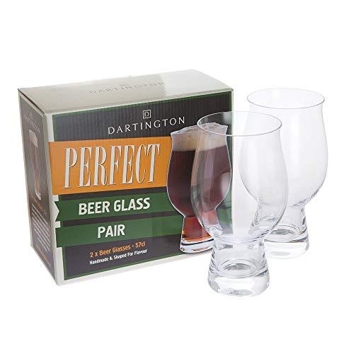 Dartington Crystal Perfect Coppia di bicchieri di birra in vetro, 9 x 9 x 17 cm