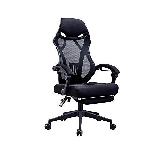 NXYJD 160 ° liegende Fußstütze Bürostuhl Gaming Racing Stuhl Ergonomischer Computer Internet Cafe Stuhl Liegestuhl