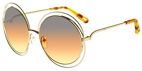 Chloè Ce114Sd 812 58 Montures de lunettes, Or (Gold/Grey Orange Yellow Femme