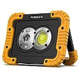 RUNACC Lampe de Travail LED Rechargeable avec Projecteur et Projecteur Anti-casse Lampe de Travail Portable...