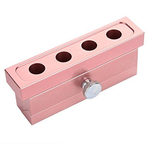 Molde para lápiz labial de aleación de aluminio de oro rosa, doble uso, herramienta para hacer bálsamo labial (2 agujeros)
