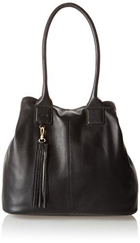 BREE Damen Jersey Schultertasche, Schwarz (Black), One Size