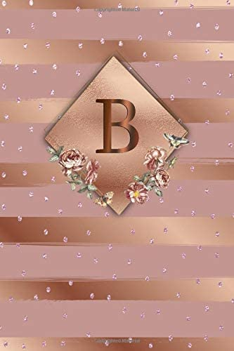 B Cute Initial Monogram Letter B College Ruled Notebook Nifty Girly Personalized Name Medium product image