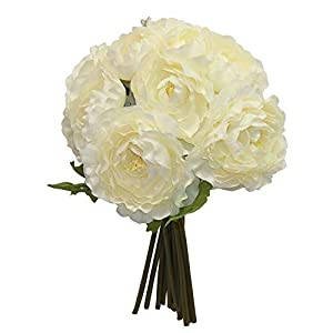Cream Bridal Bouquets Ranunculus Centerpieces Silk Wedding Flowers Artificial ART1