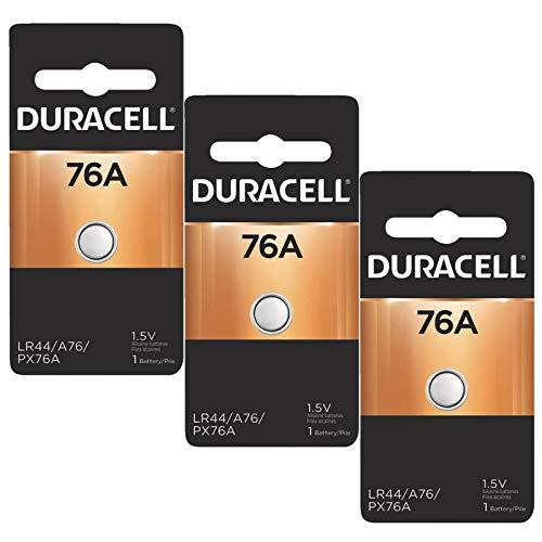 3x Duracell 76A 1.5V Alkaline Battery Replacement LR44,CR44,SR44,AG13,A76,PX76