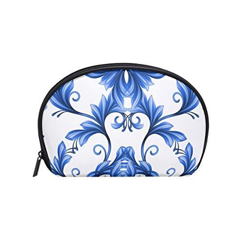 MONTOJ abstracto floral sin costuras patrón azul blanco Gzhel maquillaje bolsa viaje...