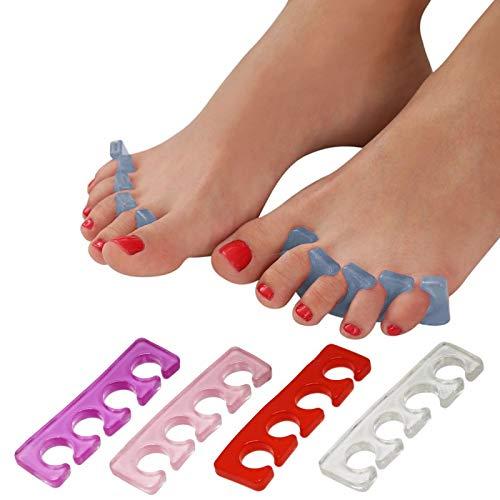 Vivezen ® Paire de séparateurs d'orteils en silicone - 5 coloris - Norme CE