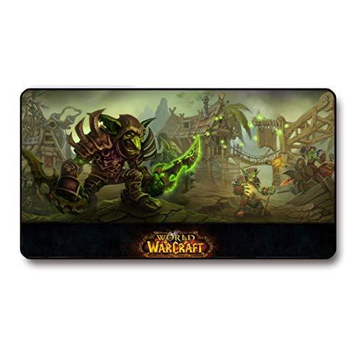 maiqu1983 Wow World of Warcraft Mauspad Matte Groß Desktop Anime Spiel Computer Schreibtischmatte (260 X 210 X 3 mm/10.23 X 8.26 X 0.11 inch, Rouge)
