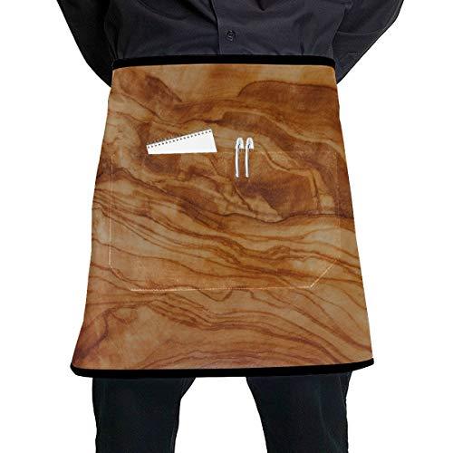 Yushg Delantal de Cocina de Madera de Olivo, Madera, Grano, Tabla de...
