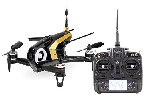 Walkera 15004470FPV Quadricottero Racing Rodeo 150RTF Drone con Telecamera HD, Batteria, Caricabatterie e Telecomando Devo 7Telecomando, Colore Nero