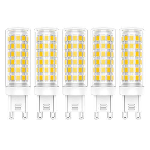 5X G9 LED Leuchtmittel 9W LED Lampen 76 SMD 2835LEDs Warmweiß 3000K LED Bulb Hohe Helligkeit 800LM AC220V-240V