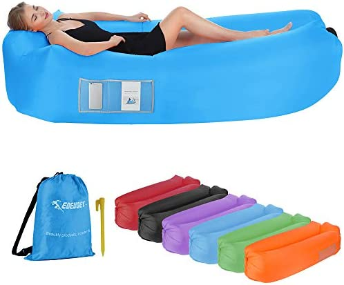 EDEUOEY Inflatable Lounger Air Sofa Waterproof Beach Travel Outdoor Recliner Gift Filled Sleeping product image