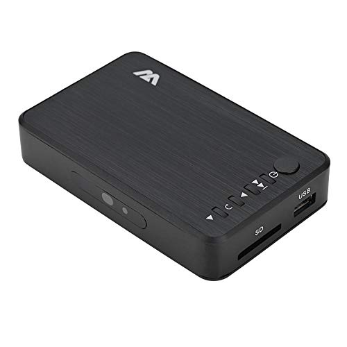 Vbestlife Reproductor Multimedia Media Player Media Player HD TV Digital 100Mbps Admite Decodificación H.264/WMV9 / VC - 1/RM/RMVB a 1080P Admite USB Drive/Disco Duro Móvil 2.5T/Tarjeta SD(Negro)
