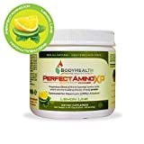 BodyHealth PerfectAmino XP Lemon Lime (30 Servings), Best Pre/Post Workout Recovery Drink, 8 Essential Amino Acids Energy Supplement with 50% BCAAs, 100% Organic, 99% Utilization