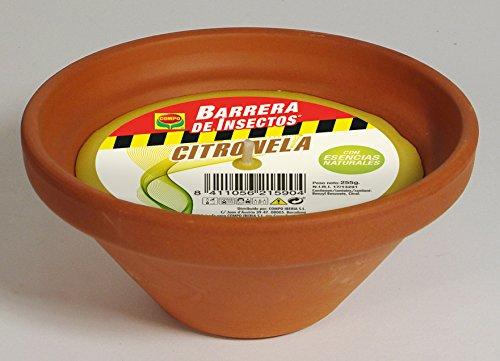 Compo Repelente Barrera de Insectos Vela de citronela, Antimosquitos, Perfumada, Terracota, hasta 20 h, 17 cm, 255 g