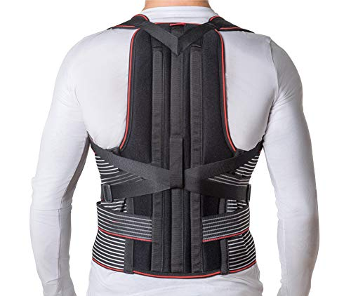 """JNTAR Back Brace Posture Corrector for Women & Men, Corset Provides Lumbar & Shoulders Support, Corrects Slouching & Bad Posture, Solution for Kyphosis & Scoliosis, Rigid Fixation (M/II (30-35""""))"""