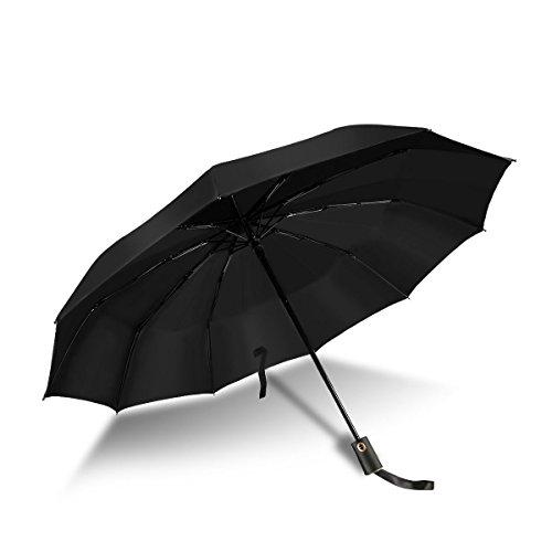 Paraguas Plegables Resistente al Viento Antiviento Paraguas Compacto Apertura y Cierre Automaticos...
