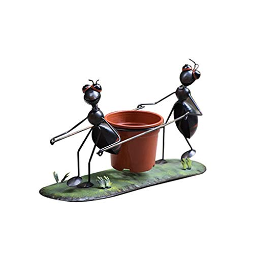 ZJ LIUJING Iron Flower Pot Decoration Creative Bicycle Garden Layout Plant Flower Pot Ant Flower Jar Decoration (Color : B)