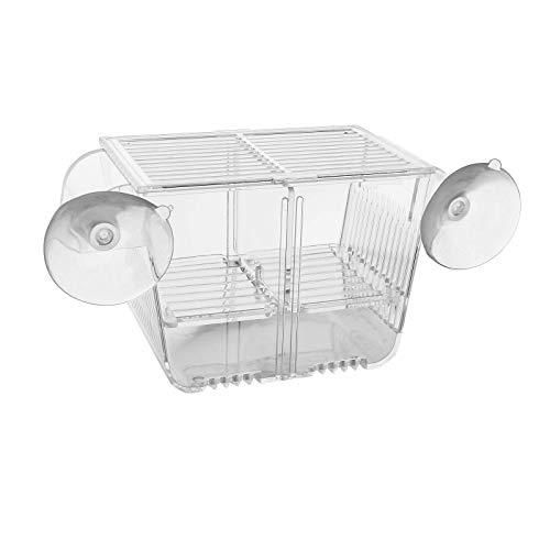 boxtech Breeding Box, Transparent Zucht Tanks, Brutkasten Zuchttanks für Aquarien Kleine Babyfische Garnelen (M: 210 x 95 x 100 mm)