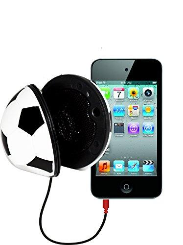 SoundLogic XT Rechargeable Folding Mini Portable Sports Ball Speaker, Soccer Ball