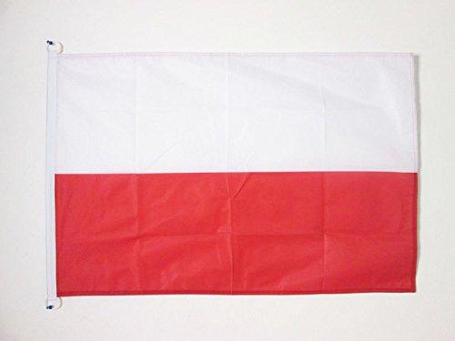 AZ FLAG Bandiera Polonia 90x60cm per Esterno - Bandiera Polacca 60 x 90 cm