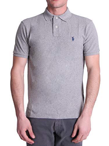 Photo of Polo Ralph Lauren Mod. 710792802 Polo Shirt Mesh Short Sleeves Custom Slim Fit Man Grey M