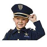 Dress Up America H226-K Pretend Spielen Blauer Polizeihut für Kinder Play Polizei Hut für Erwachsene, Einheitsgröße für alle