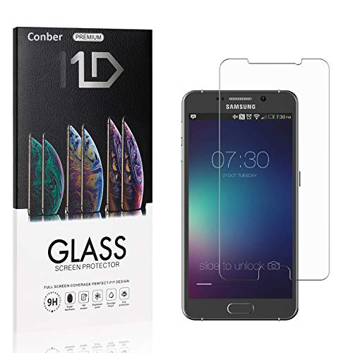 Conber (4 Pack) Screen Protector for Samsung Galaxy Note 5, [Scratch-Resistant][Anti-Shatter][Case Friendly] Premium Tempered Glass Screen Protector for Samsung Galaxy Note 5