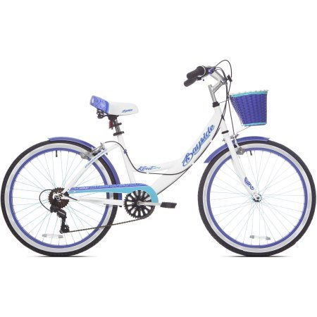 24' Bayside Multi-Speed Girl's Bike, Shimano 7 speed drivetrain with twist shifters