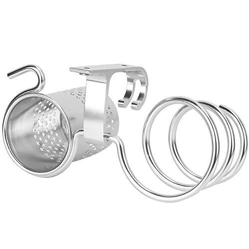 Uxsiya Soporte para secador de Pelo Soporte para secador de Pelo montado en la Pared Soporte para secador de Pelo Multifuncional para Uso doméstico y hotelero(Mate-c7)
