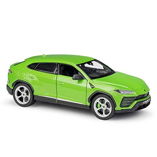 Modelo de Coche 1:24 del Coche Modelo de simulación de aleación de Metal Fundido de Coches de Juguete Adornos de joyería Colección De 19.5x7.8x6.4cm (Color : Green)
