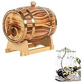 Barril de vino Barril de Roble estante del vino 5L, whisky barril dispensador especial de almacenamiento Cubo de cervecería o de Almacenamiento de whisky, vino tinto, cerveza, tequila (con Tap)
