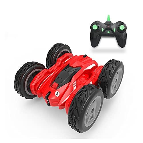 PETRLOY RC-stuntauto, off-road klimmen Elektrisch speelgoed voor kinderen 2,4 GHz op afstand bestuurbaar sportvoertuig met koele verlichting 360 ° draaiingen en flips Rijden met buggy Verjaardagscadea