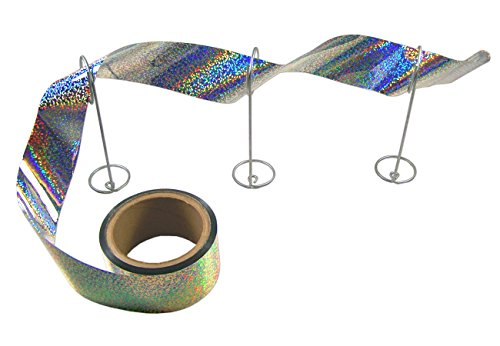 Bird-X Irri-Tape Holographic Iridescent Foil Bird Scare Tape, 2' x 100ft Length