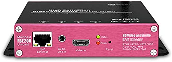FMUSER FBE200 Video Encoder H.264/H.265 Live Broadcast HD IPTV Encoder Multicast M3U8 OSD Rolling HLS