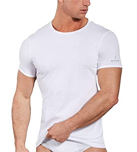 Navigare 570 Maglietta intima, Bianco, X-Large, Pacco da 3, Uomo