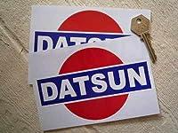 Datsun Rising Sun Sticker ダットサン ステッカー シール デカール 海外限定 150mm x 100mm 2枚セット [並行輸入品]